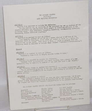 Proposals, 1966 national convention [handbill/letter]. Chicago Chapter Daughters of Bilitis