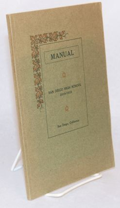 Manual: San Diego High School, San Diego California, 1918 - 1919