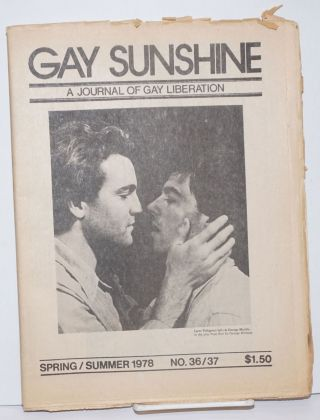 Gay Sunshine; a journal of gay liberation, #36/37 Spring/Summer 1978. Winston Leyland, Richard...