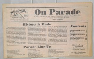 On Parade: the official program of the San Francisco Lesbian/Gay freedom day parade & celebration...