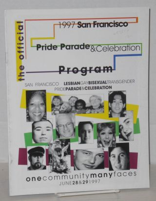 1997 San Francisco lesbian/gay/bisexual/transgender pride parade & celebration program: one...