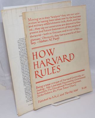 How Harvard rules,; being a total critique of Harvard University, including: new liberated...