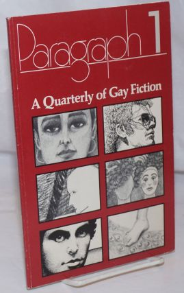 Paragraph 1: a quarterly of gay fiction. N. A. Diaman, Richard Hall Jane Alden, Stanley...