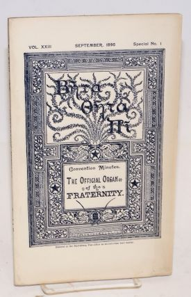 Beta theta pi,; convention minutes; the official organ of the fraternity vol. xxiii, September...