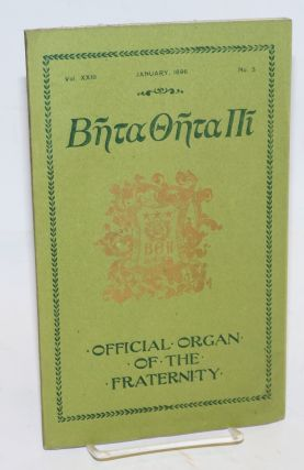 Beta theta pi, official organ of the fraternity vol. xxiii, January 1895, no. 3 [cover titling]...
