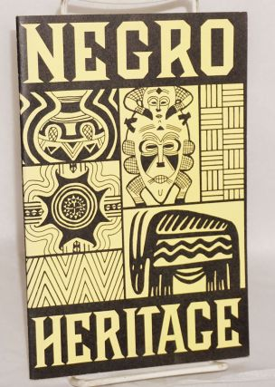 Negro heritage; a selected book list for all ages. Denver Public Library