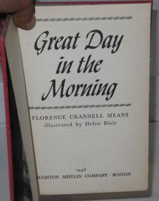 Great day in the morning; illustrated by Helen Blair