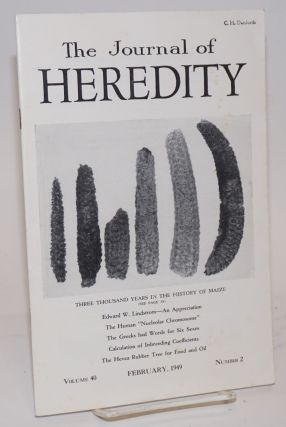 The journal of heredity, volume 40 number 2 February, 1949. Paul Popenoe, editorial board, et alia